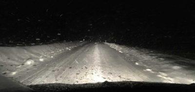 Fahren bei Schneetreiben