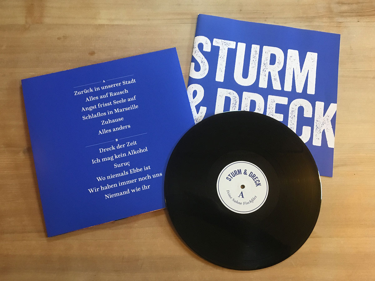Feine Sahne Fischfilet - Sturm & Dreck - Rückseite und LP
