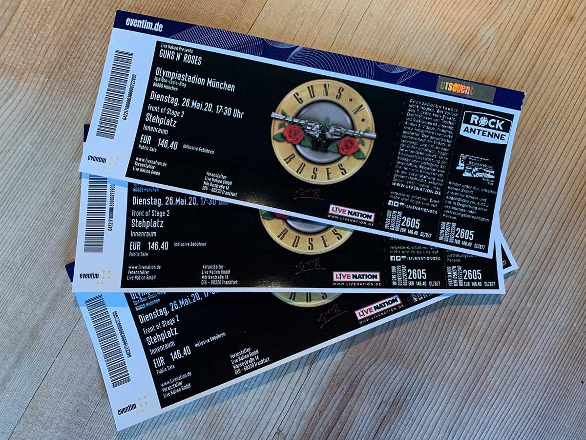 Tickets für Guns N' Roses in München